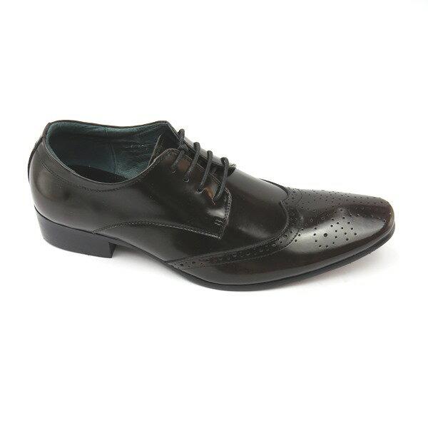 彩虹屋美鞋:*男皮鞋*時尚舒適尖頭排壓氣墊皮鞋77-A693(古銅)*[彩虹屋]*現+預
