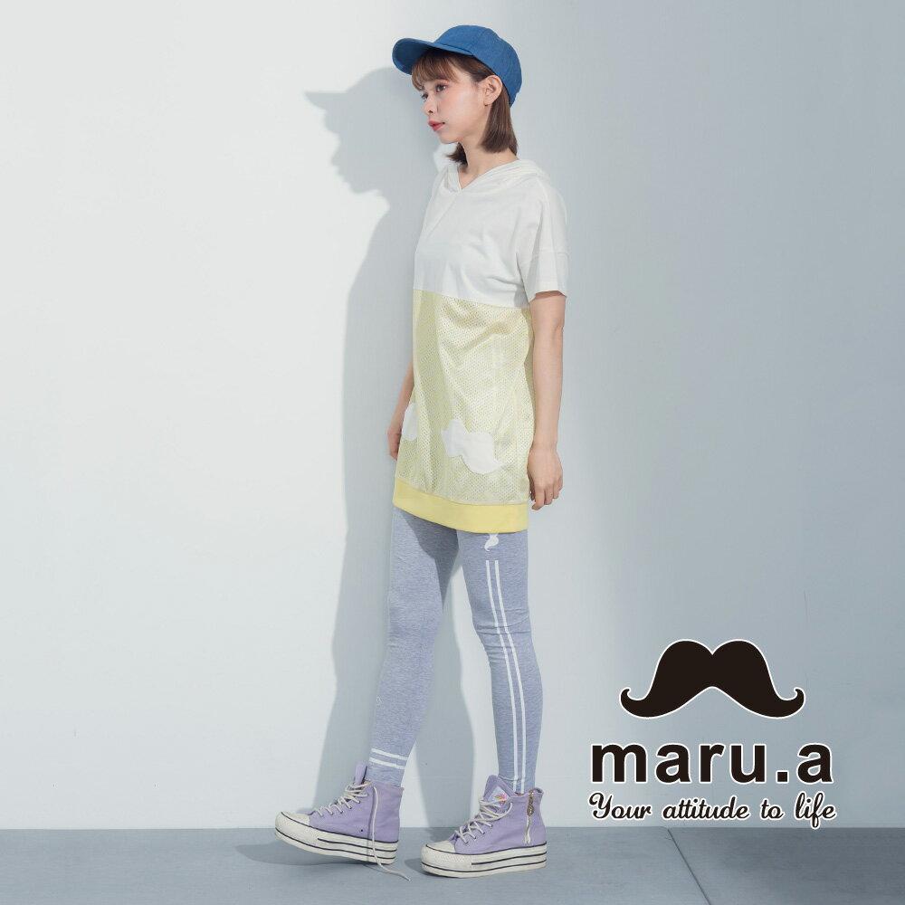 【maru.a】街頭風拼接長版T-shirt 7321317 6