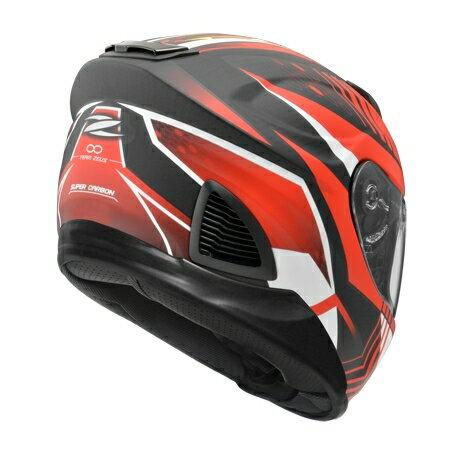 任我型騎士部品 ZEUS 1600 AK6 紅 消光 碳纖維 全罩 安全帽 送好禮五選一