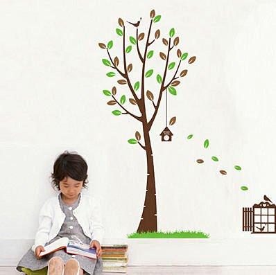 BO雜貨:BO雜貨【YP1826】創意可移動壁貼牆貼背景貼壁貼樹時尚組合壁貼璧貼樹