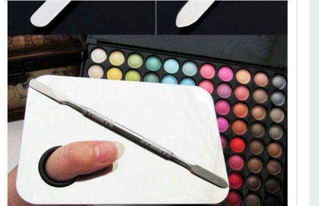 瑪姬主義-  M130# 專業彩妝不銹鋼粉底液膏調色盤大號套組(含調棒)