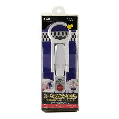 ∥露比私藏∥日本製【KAI 貝印】 放大鏡指甲刀/指甲剪 (長輩、孩童修甲好幫手)日本製