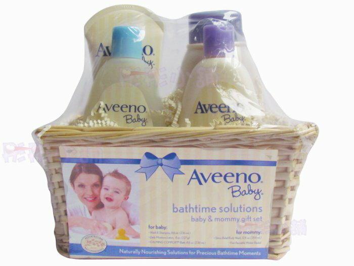【彤彤小舖】 Aveeno 彌月沐浴禮盒組 寶寶與媽咪沐浴保濕組 四件組 美國原廠