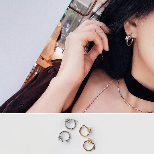耳環 打結 金屬風  氣質 耳環~TSEG597~3~ BOBI 1 19