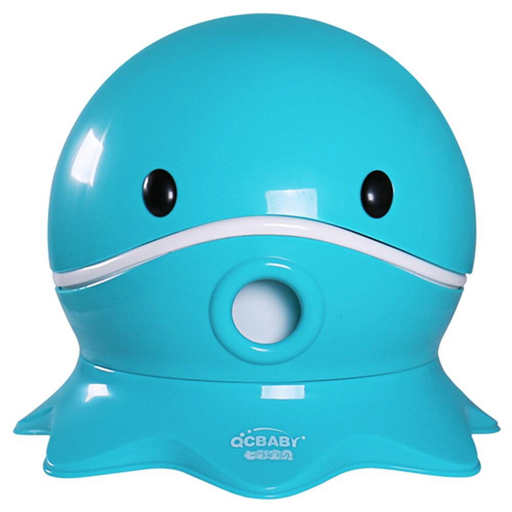 寶貝樂 可愛章魚幼兒馬桶學便器-藍色(BTOT18B)