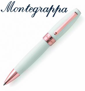 義大利Montegrappa萬特佳財富系列-原子筆(白-金夾)ISFORBRH支