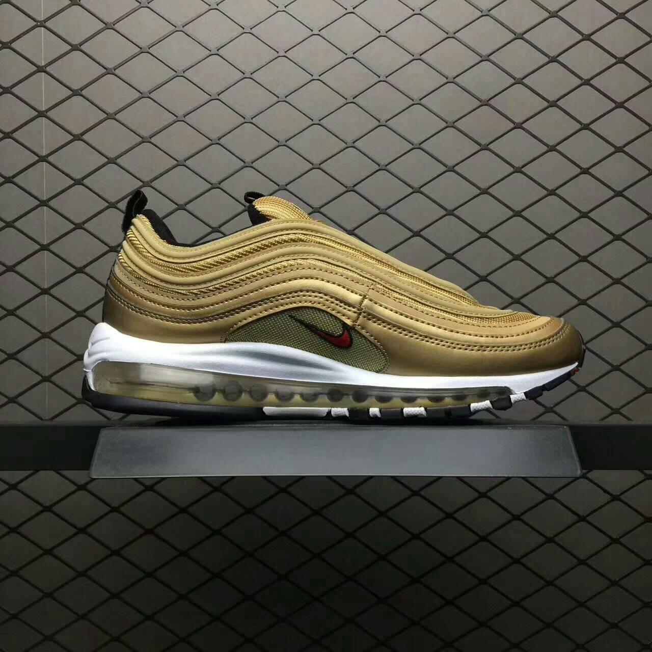 Nike Air Max 97 QS 「Metallic Gold」  97子彈 土豪金  男款