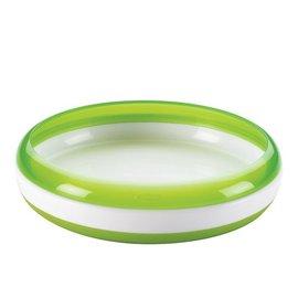 【淘氣寶寶】美國 OXO Tot Training Plate 幼兒餵食防滑餐盤/學習餐盤/訓練碟 綠色【保證原廠公司貨●品質有保證●非水貨】