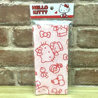 【真愛日本】16093000053 沐浴巾-KT紅 三麗鷗 kitty 凱蒂貓 洗澡巾 去角質 盥洗用品