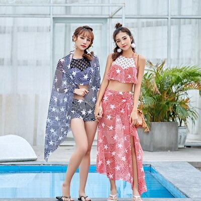 泳裝三件套泳衣-韓版時尚清新俏麗女比基尼2色73rz47【獨家進口】【米蘭精品】