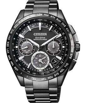 CITIZEN星辰CC9017-59E金城武廣告款鈦金屬GPS衛星對時光動能腕錶/黑面44mm