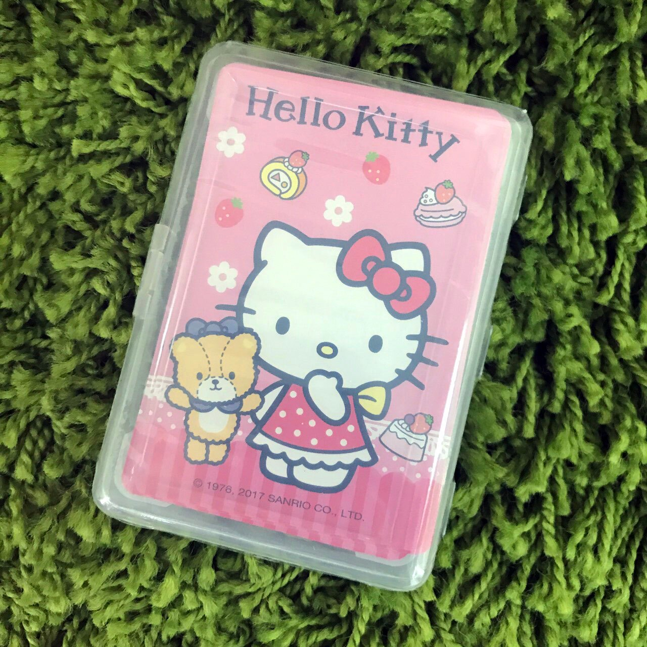 【真愛日本】17111000004 新潮撲克牌-KT甜點粉 三麗鷗 kitty 凱蒂貓 桌遊 紙牌遊戲 休閒遊戲