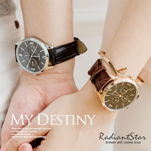 香港SINOBI爵士樂章真三眼3ATM皮革手錶對錶單件價【WSI9546G】璀璨之星☆