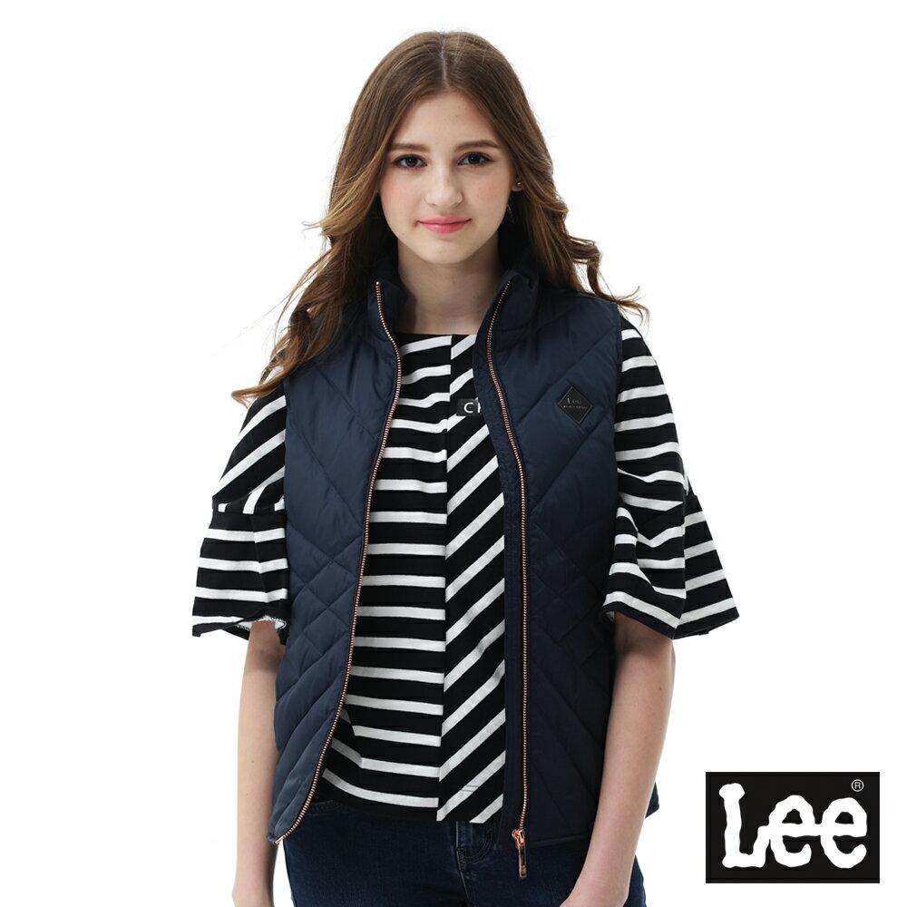 Lee 羽絨背心90/10-女款-藍黑色