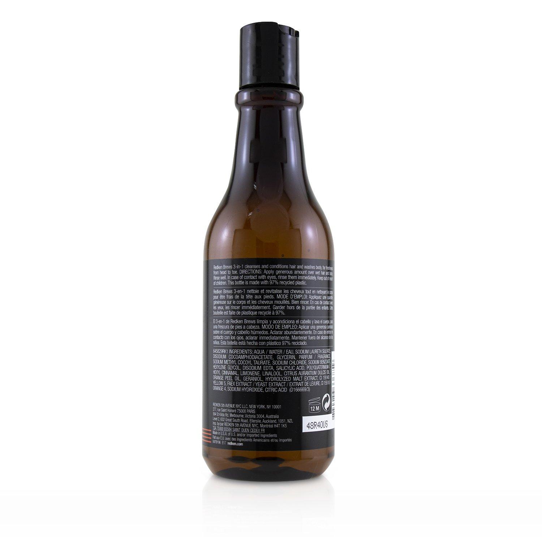 列德肯 Redken - 3合1洗髮潤髮沐浴露Brews 3-in-1 Shampoo, Conditioner and Body Wash