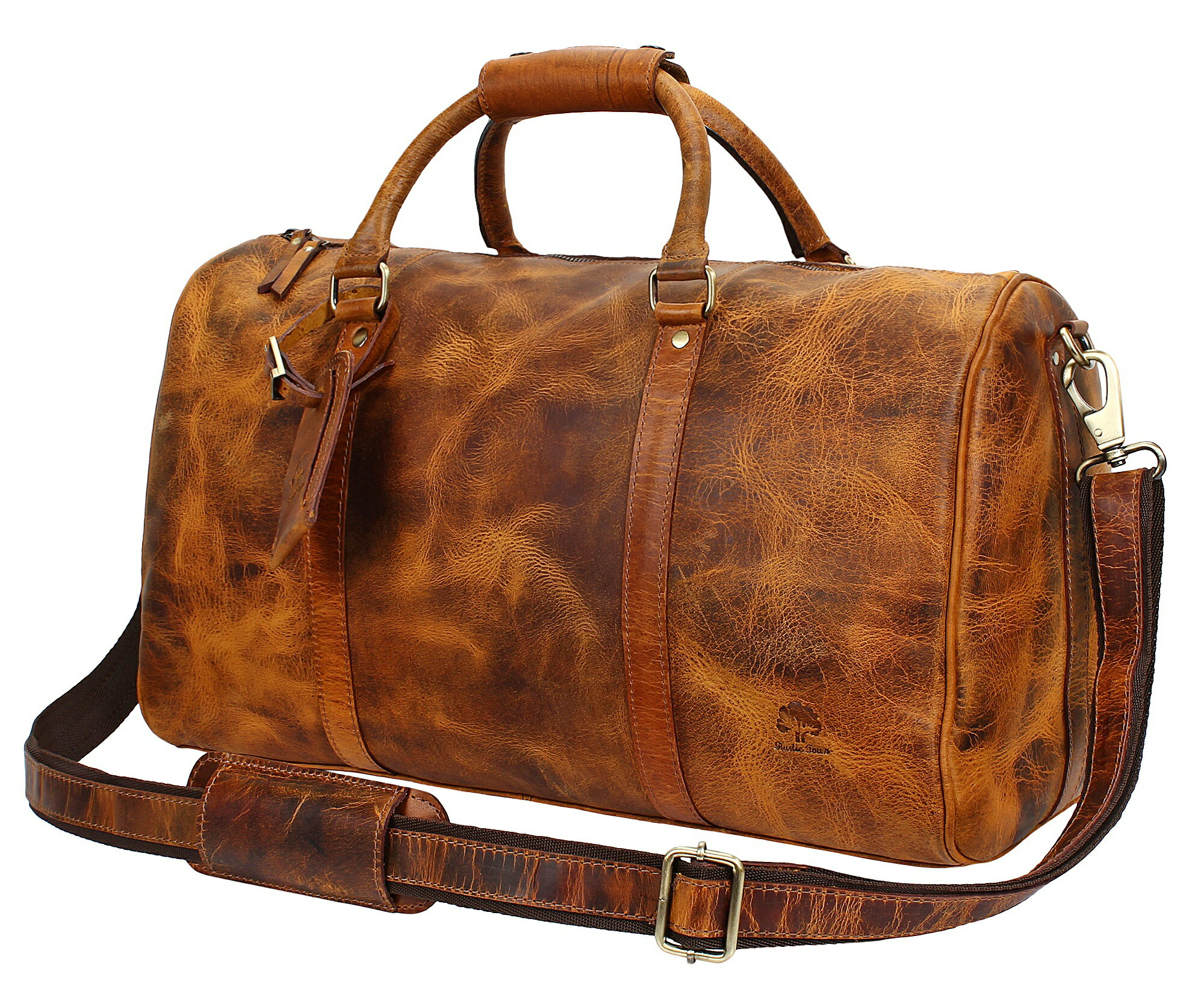 e312a30f0a1f Rustic Town 20 inch Leather Travel Duffel Bag ~ Special Pockets Inside ~  Gym Overnight Weekend
