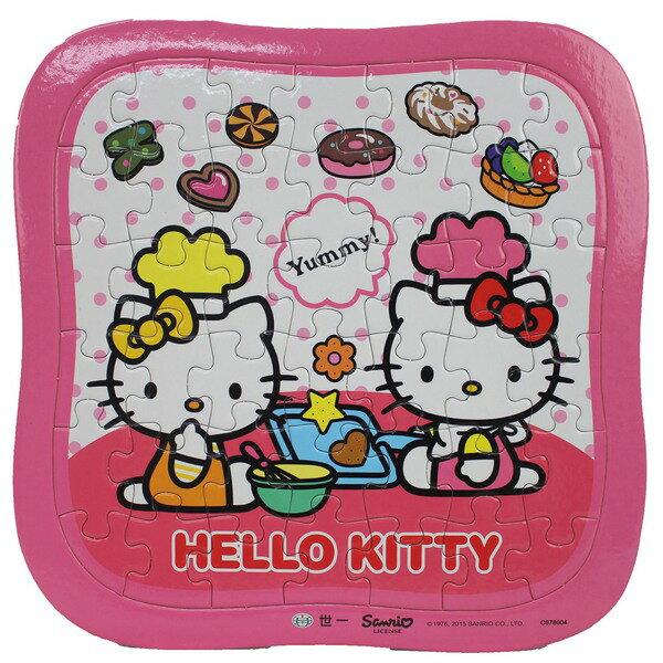 Hello Kitty凱蒂貓拼圖 42片拼圖 餅乾小甜心/一個入{促80} 世一C678004 KT幼兒卡通拼圖MIT製