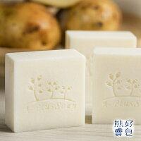 手工皂-馬鈴薯橘油家事皂_熊好賣皂 140±10g(五入組,贈起泡袋*1) 0