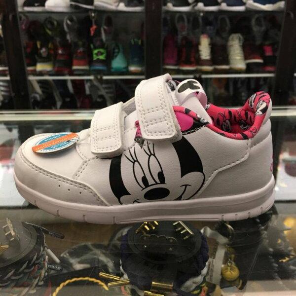 BEETLE PLUS:童鞋BEETLEADIDASDISNEYMINNIECFI米妮魔鬼氈白粉紅BY26441415CM