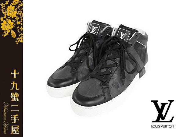 《十九號二手屋》台南二手精品 專櫃正品 Louis Vuitton LV Sneakers Damier 棋盤格紋中統休閒男鞋