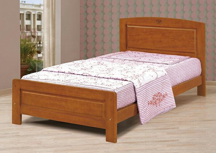 【尚品傢俱】CM-664-2 3.5尺柚木單人床(不含床墊)