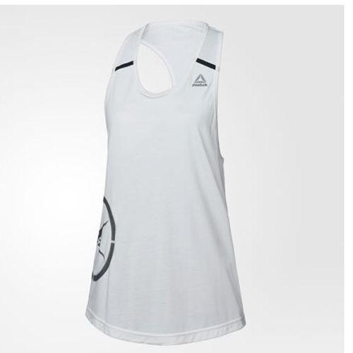 Reebok elite Sleeveless 女裝 細肩帶 背心 慢跑 舒適 透氣 白 黑【運動世界】BJ8896
