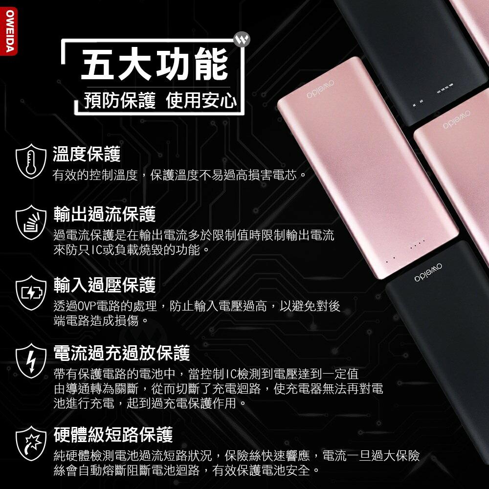 【 type-c QC3.0】頂級版 行動電源(10000mAh)黑/粉 WendyBabe時尚指彩