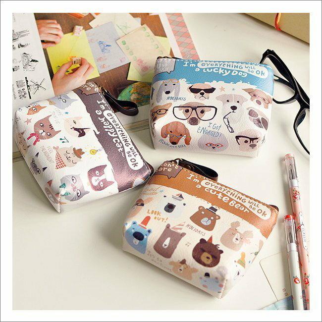 * Anne&Alice包包購 * ~韓風卡哇伊超萌寵物總動員拉鍊式零錢包特價中~多款可選~*