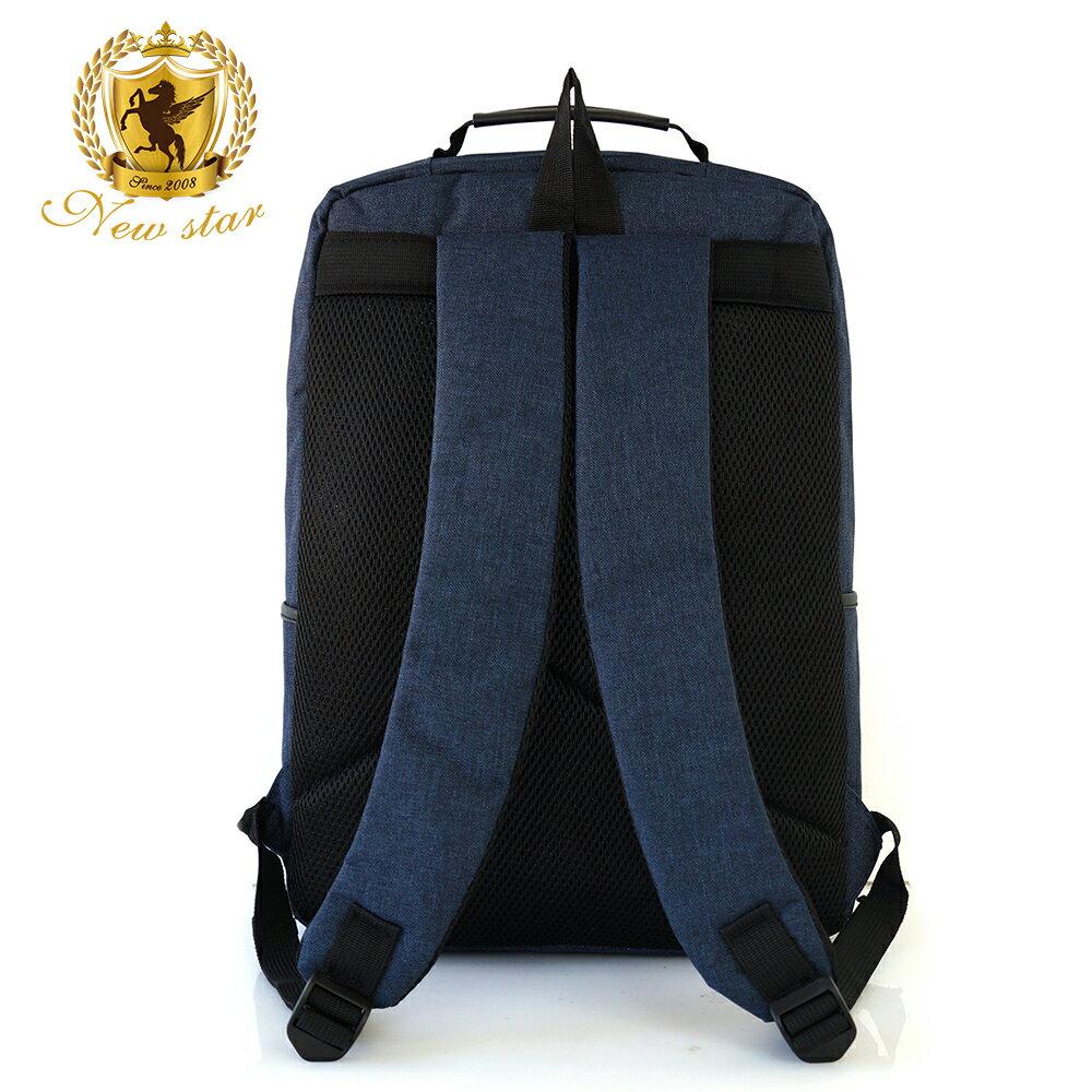 韓風簡約時尚防水雙層拉鍊口袋後背包包 NEW STAR BK238 4