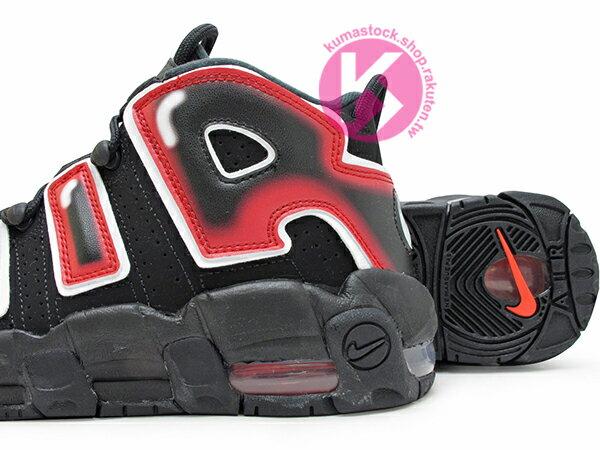2019 NBA 超經典復刻 NIKE AIR MORE UPTEMPO GS BLACK LASER CRIMSON 大童鞋 女鞋 黑紅 紅火焰 AIR Scottie Pippen 著用 公牛隊 三連霸 (415082-010) 0120 3