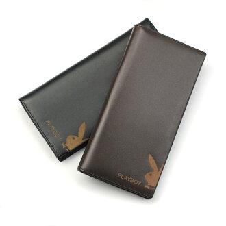 【橘子包舖】皮夾 PLAYBOY 真皮長夾錢包 [A11-001] 有拉鏈層