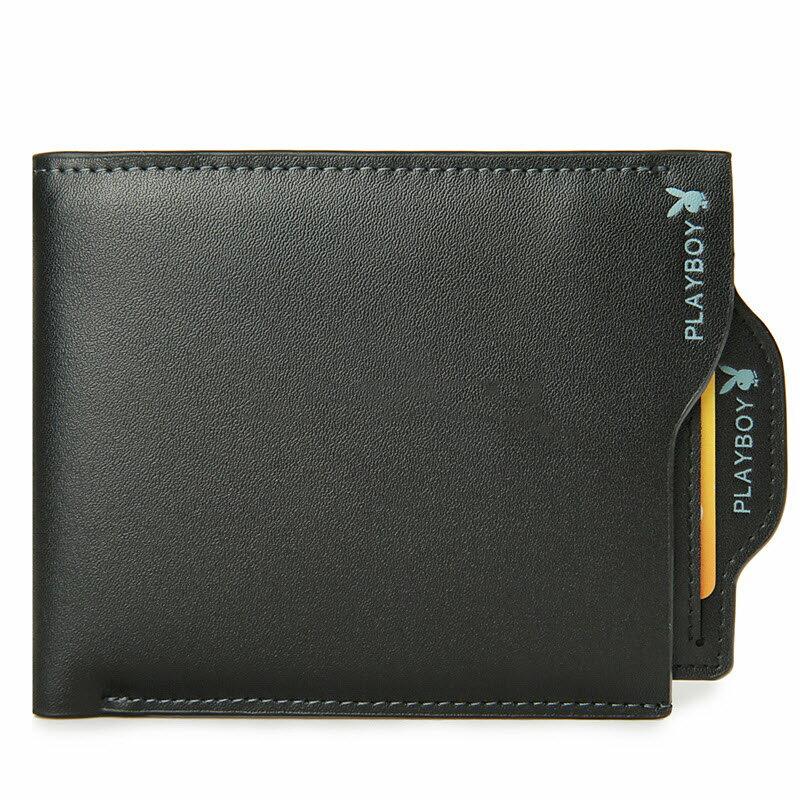 現貨+預購|PLAYBOY 男士真皮拉鏈短夾錢包 [A11-044] |男皮夾|二色|橘子包舖