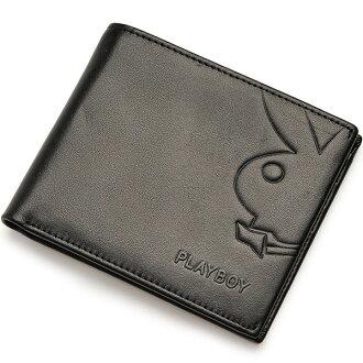 【橘子包舖】皮夾 PLAYBOY 平紋真皮雙折錢包 [A11-070] 男短夾