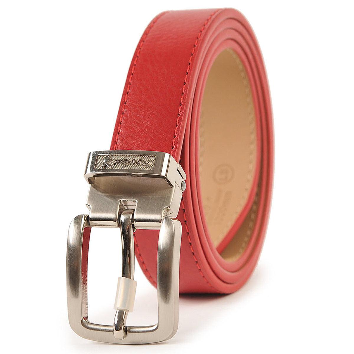 PLAYBOY 真皮針扣皮帶 [A14-017]|女腰帶|紅色|橘子包舖