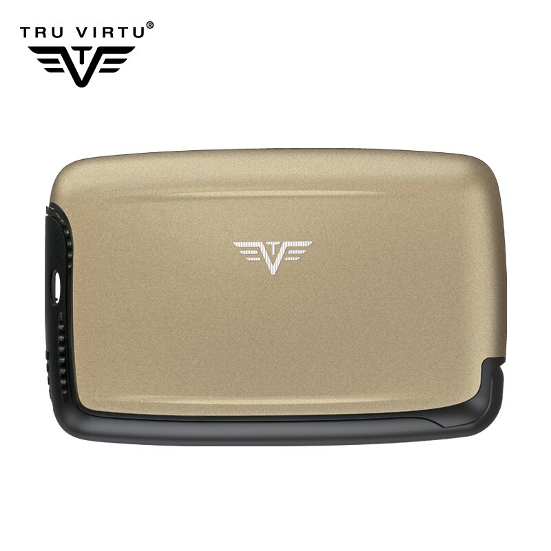 TRU VIRTU德國 鋁質錢包 男女 防RFID/NFC電磁射頻 防側錄皮夾 防消磁 卡包 派系列 磨砂款 出國必備 A31-009