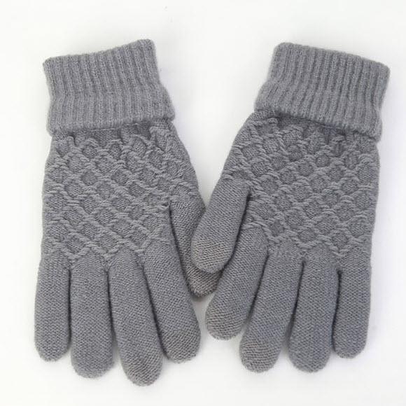 ~橘子包舖~韓國正貨 FROMb 保暖觸控手套 A0353  內層加絨 灰色