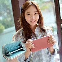 【橘子包舖】長夾 韓國正貨 FROMb 十字紋真皮長夾錢包 [G0711]|女皮夾|六色