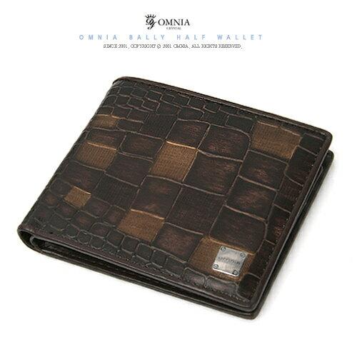 【橘子包舖】男皮夾 韓國正貨 OMNIA 男用鱷魚紋真皮短夾錢包 [G0487] (二色)