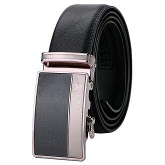 現貨|PLAYBOY 真皮自動扣皮帶 [A14-026] |男腰帶|黑色|橘子包舖