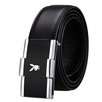 預購|PLAYBOY 真皮板扣皮帶 [A14-038]|男腰帶|黑色|橘子包舖