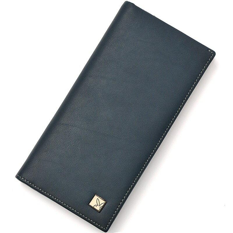 PLAYBOY 男平紋真皮長款錢包 [A11-077] 納帕皮|男皮夾|藏藍色|橘子包舖