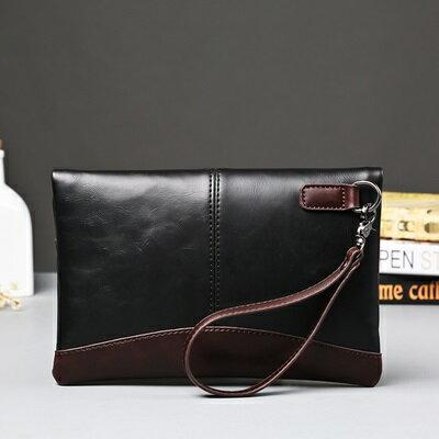 手拿包折疊信封包-紳士商務文件復古男包包2色73sd37【獨家進口】【米蘭精品】 1