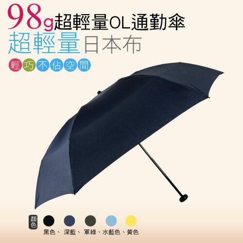 【momi宅便舖】98G超輕量通勤傘(深藍色) / 抗UV /MIT洋傘/ 防曬傘 /雨傘 / 折傘 / 戶外用品