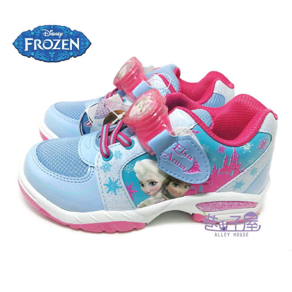 ~零碼 ~21/22號~DISNEY迪士尼 冰雪奇緣女童電燈 休閒鞋 ^~54146^~