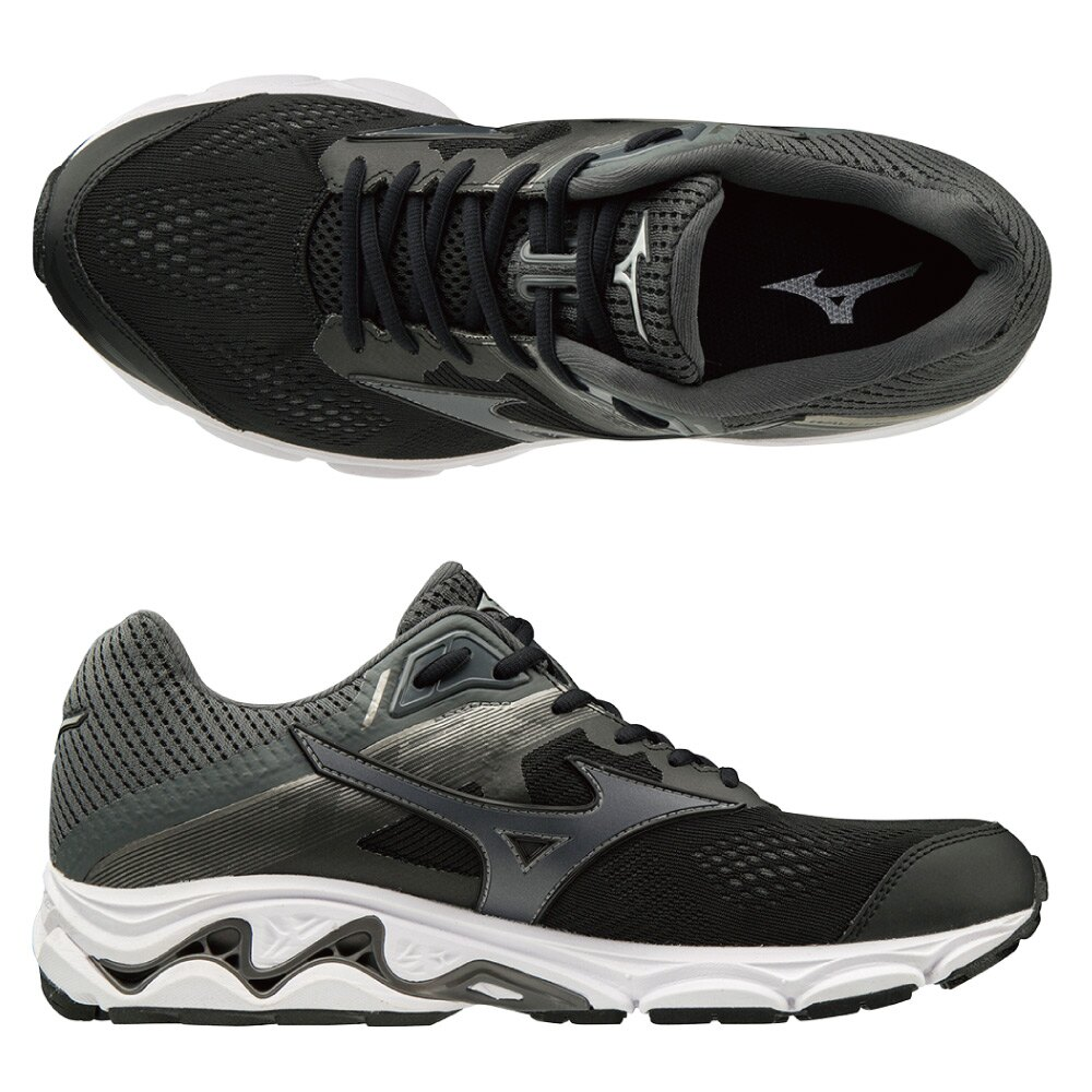 WAVE INSPIRE 15 支撐型超寬楦男慢跑鞋 J1GC194551(黑)【美津濃MIZUNO】 1