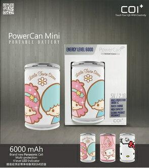 年節禮品COI+ PowerCan 易開罐行動電源 6000mAh Mini Little Twin Stars(4710901857479)、Mini My Melody(4710901857448..