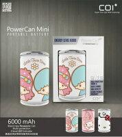 美樂蒂My Melody周邊商品推薦到年節禮品COI+ PowerCan 易開罐行動電源 6000mAh  Mini Little Twin Stars(4710901857479)、Mini My Melody(4710901857448)、Mini Hello Kitty(4710901857431)