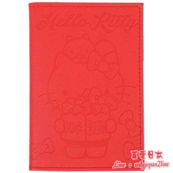 【真愛日本】1609100000817年迷你年曆本-KT爆米花壓紋紅   三麗鷗 Hello Kitty 凱蒂貓   年曆 日曆