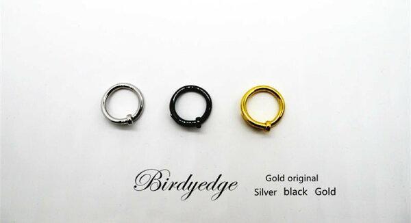 BIRDYEDGE戒指釘子戒指全素面鋼料非合金爛貨男女對戒戒子