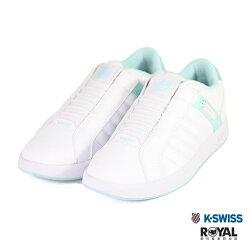 K-SWISS 新竹皇家 Lundahl 白色 皮質 套入式 休閒鞋 女款 NO.I9184